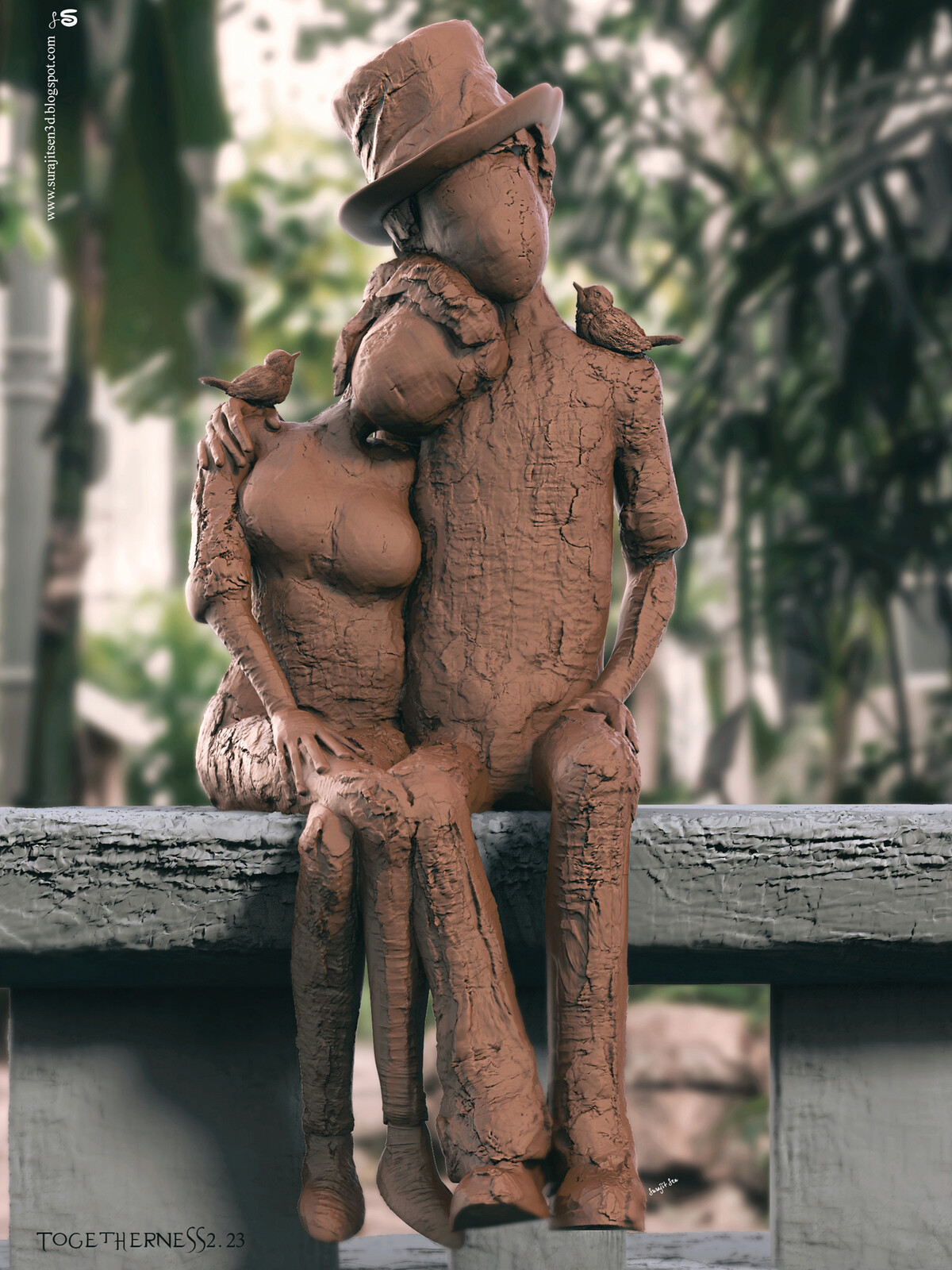 Togetherness2.23 Digital Sculpture Wish to share... Background music- #hanszimmermusic
