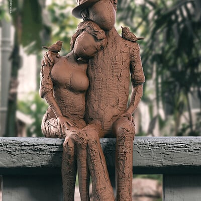 Surajit sen togetherness2 23 digital sculpture surajitsen oct2020aab