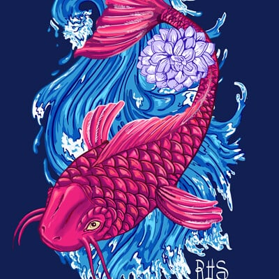 Koi - T-shirt graphic
