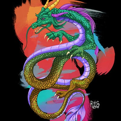 Dragon (01) - T-shirt graphic
