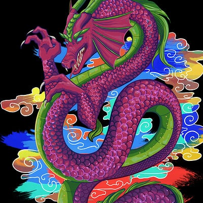Dragon (02) - T-shirt graphic