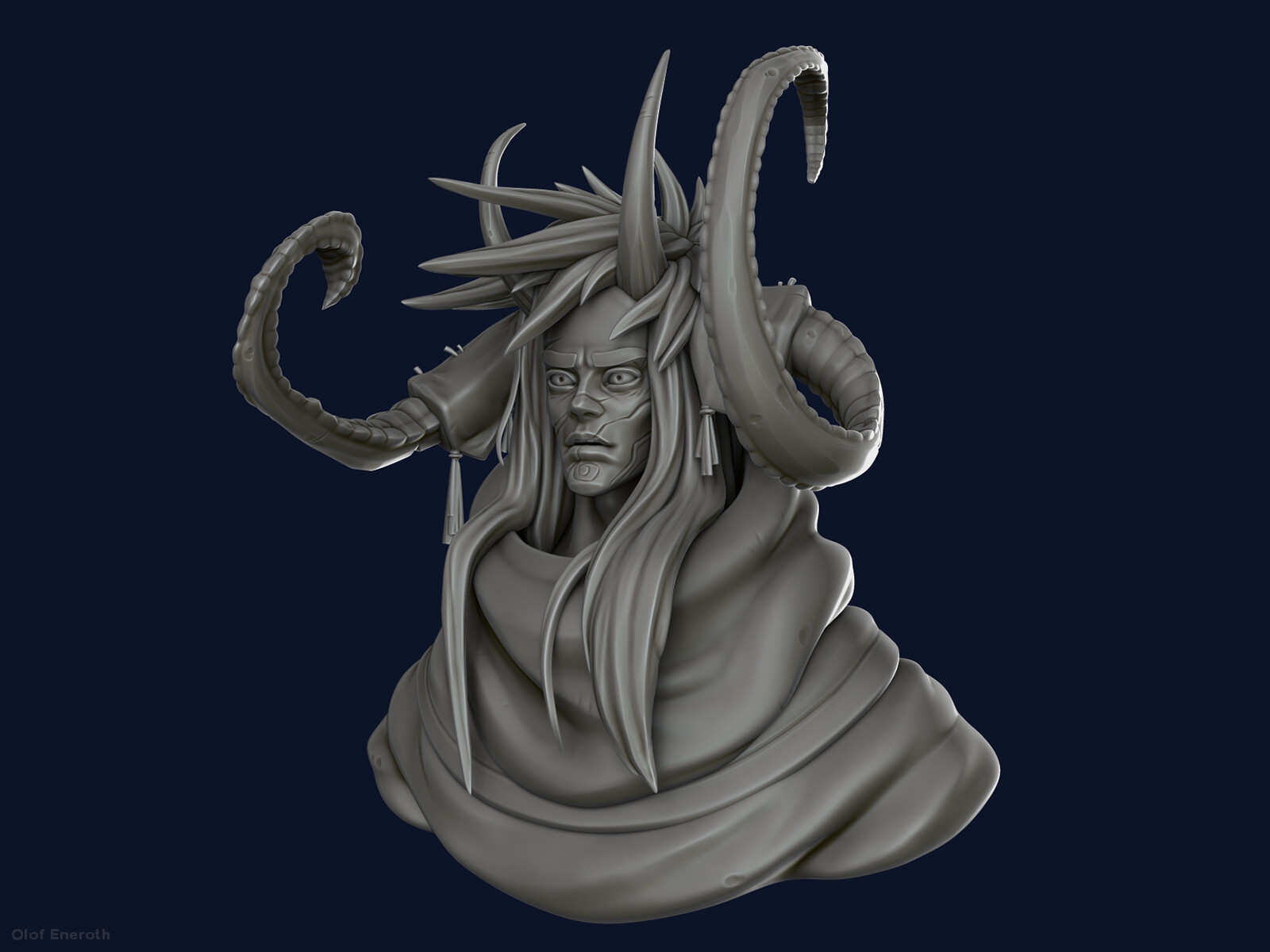 Highpoly rendered in Zbrush