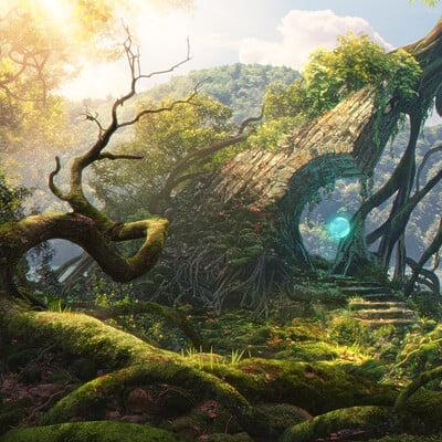 Pace wilder rocks fantasyenvironent mattepainting 6 pw