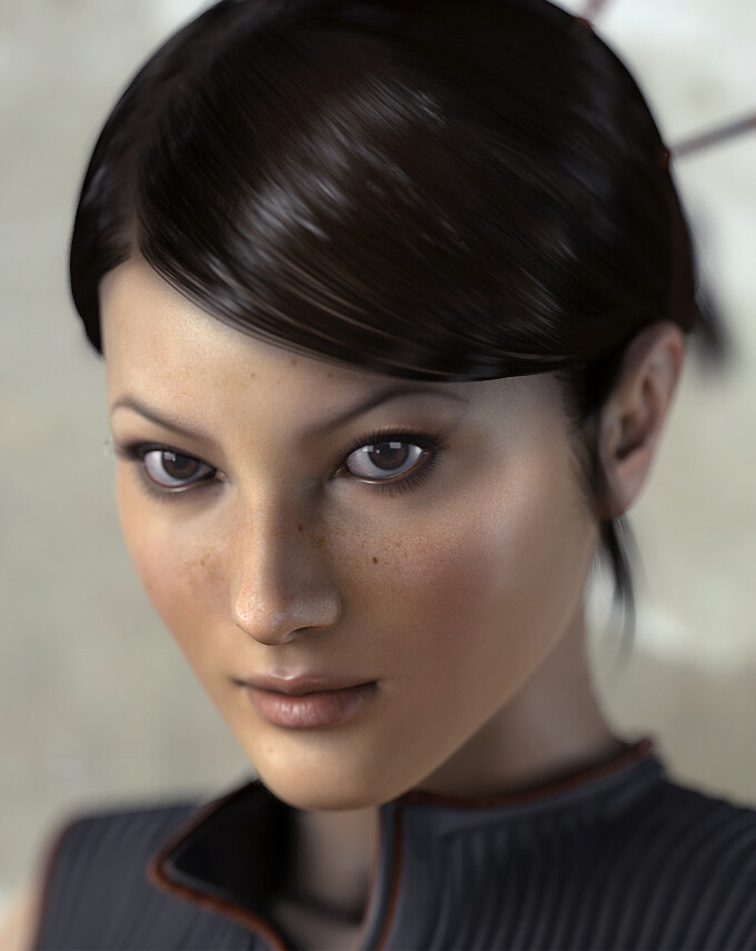 Halo Wars - Professor Ellen Anders. Character Modeling, Texturing and Hairstyling.