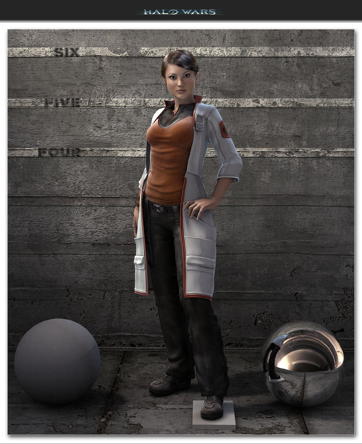 Halo Wars - Professor Ellen Anders Costume Lab Coat.