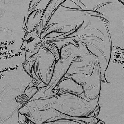 Shamine king misc sketches krampus laz da