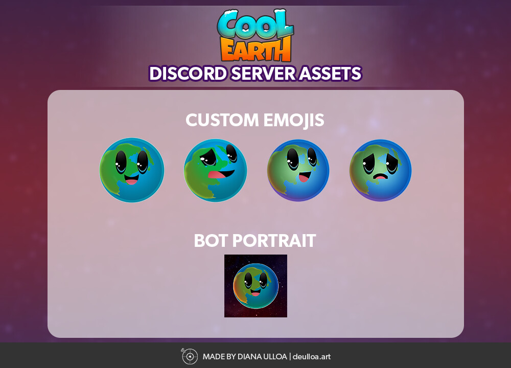 Discord server emojis and bot portrait