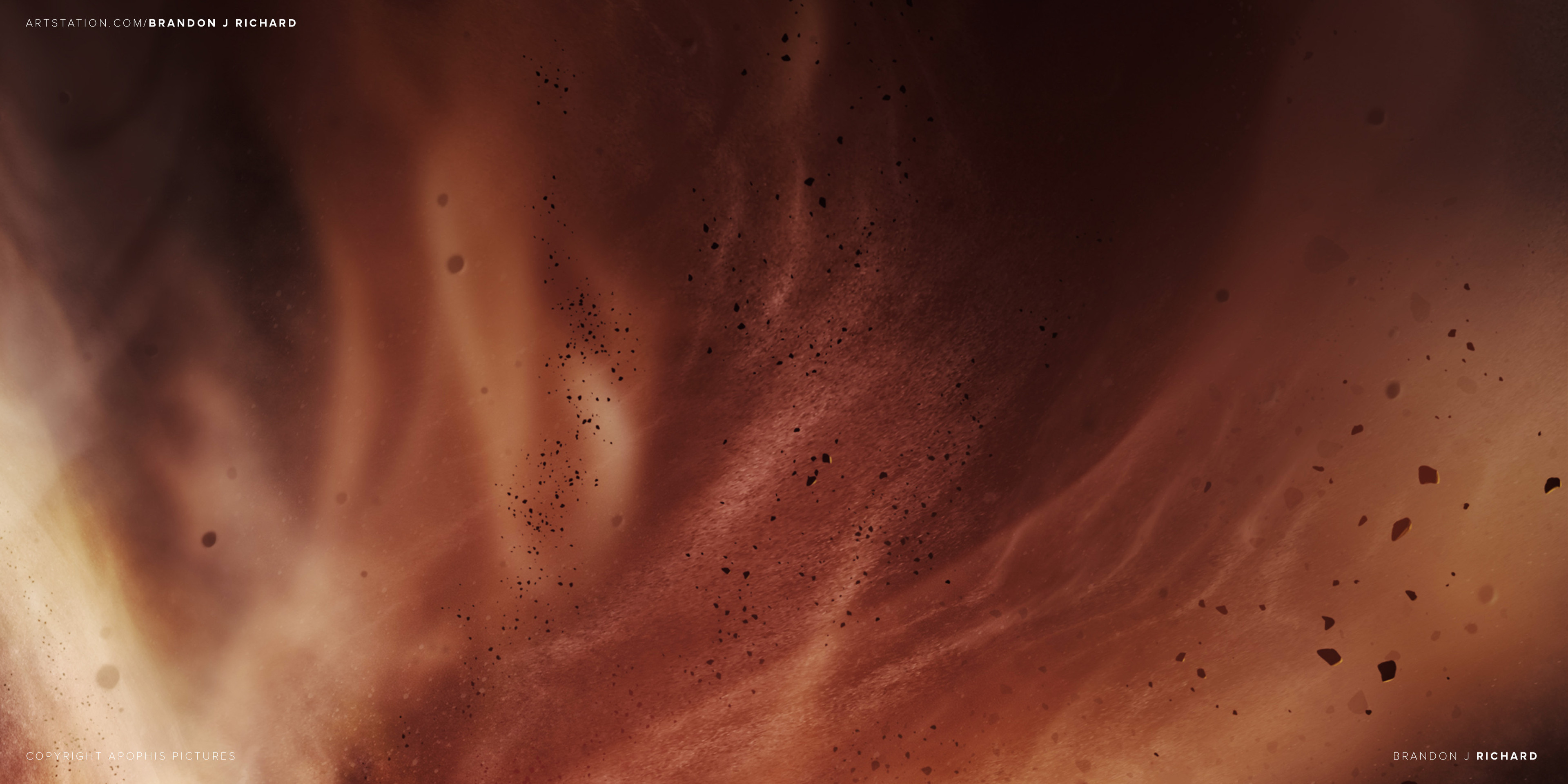Detail - a storm of particles and debris