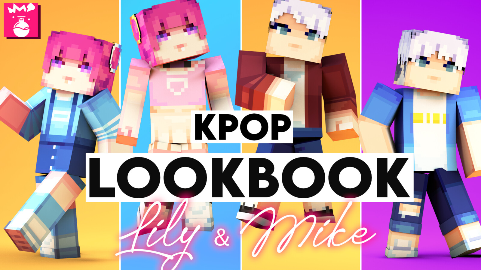 KPOP LookBook: Lily & Mike HD [Skin Pack]