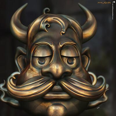 Surajit sen poor ashura digital sculpture surajitsen oct2020a