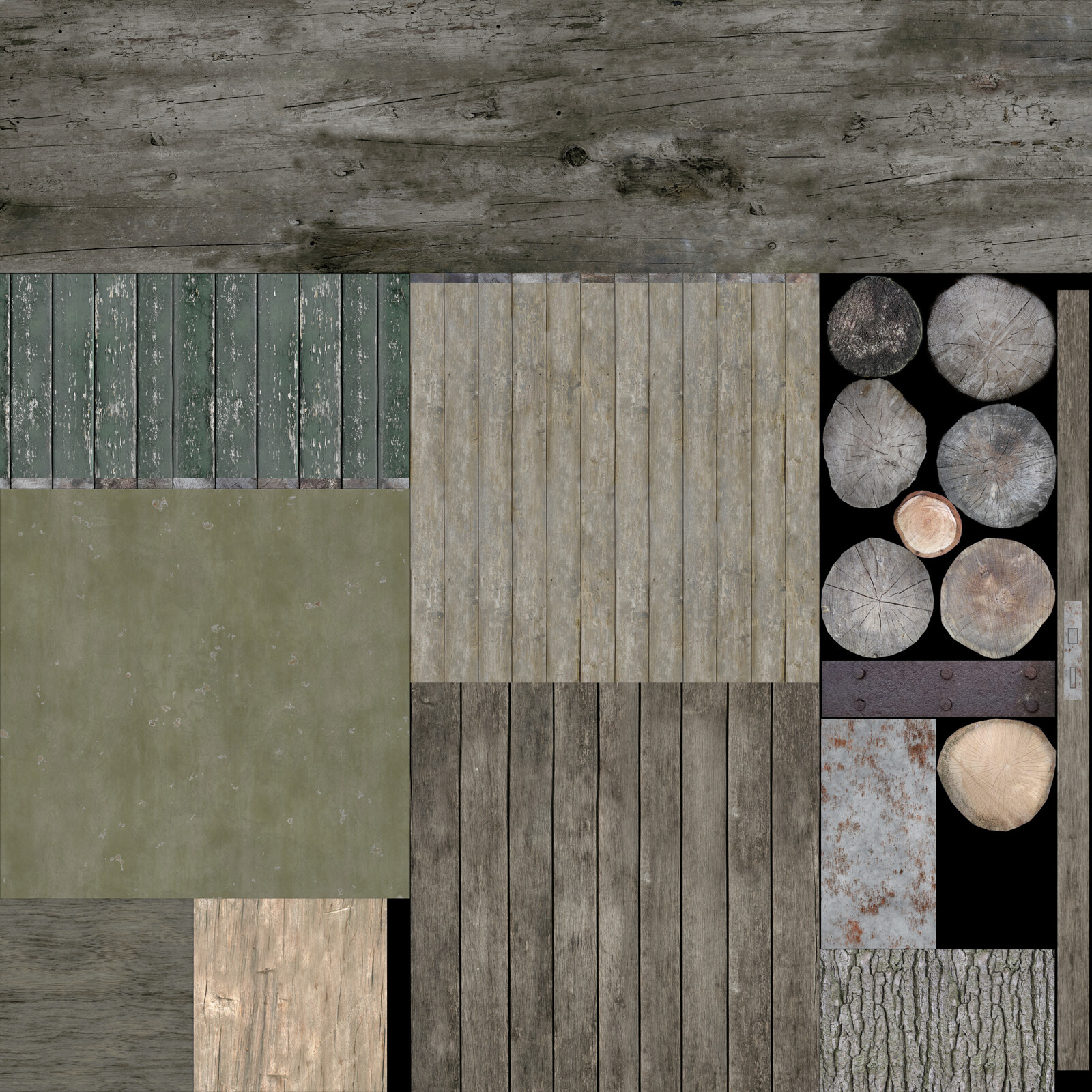 Diffuse texture - only one for all models.