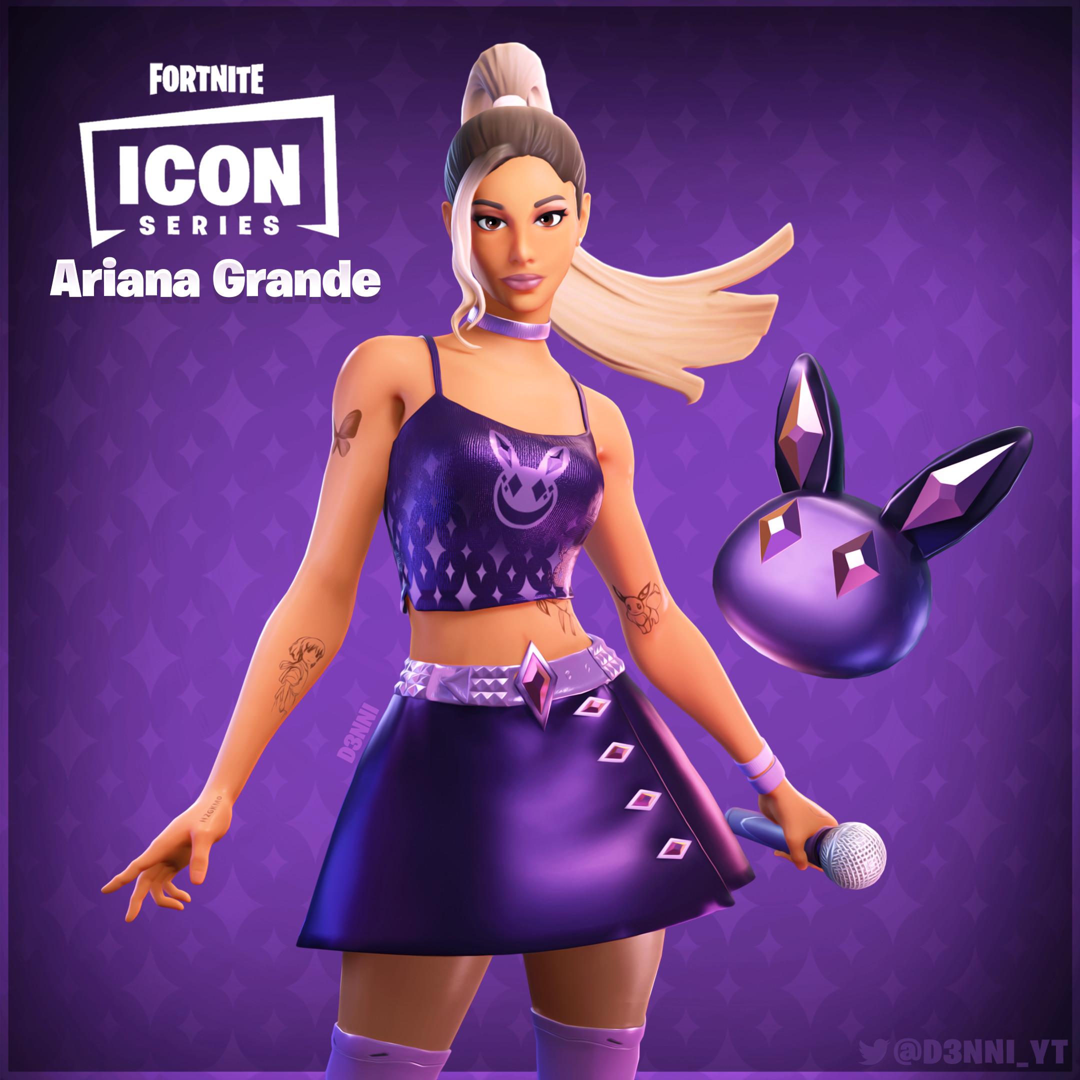Fortnite Icon Skin D3nni Fortnite Skin Concept Ariana Grande Icon Series