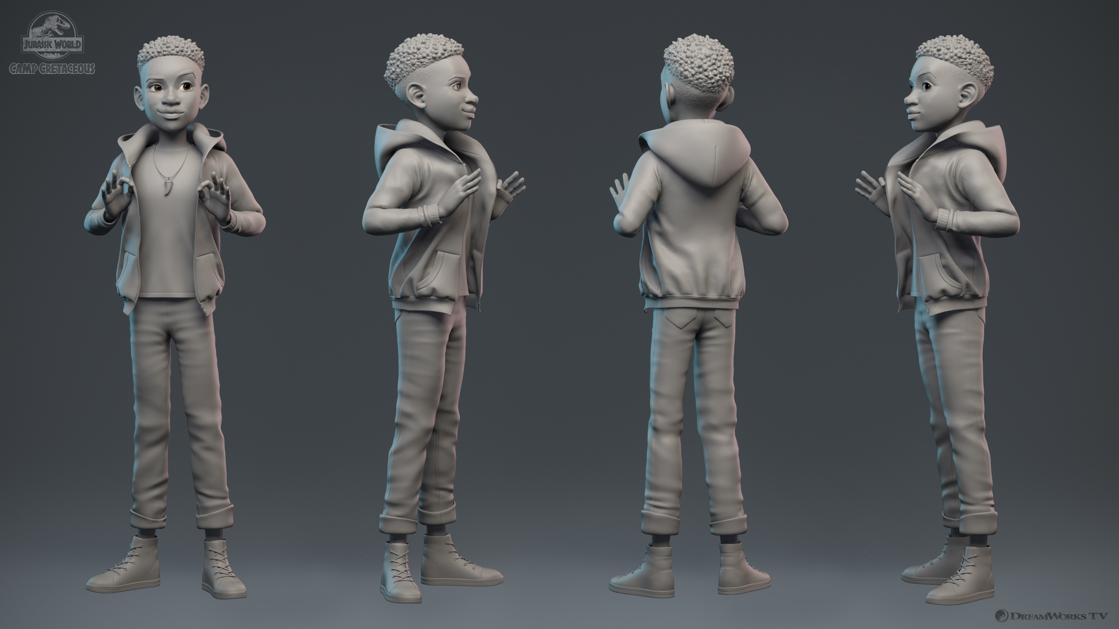 Clay render turns