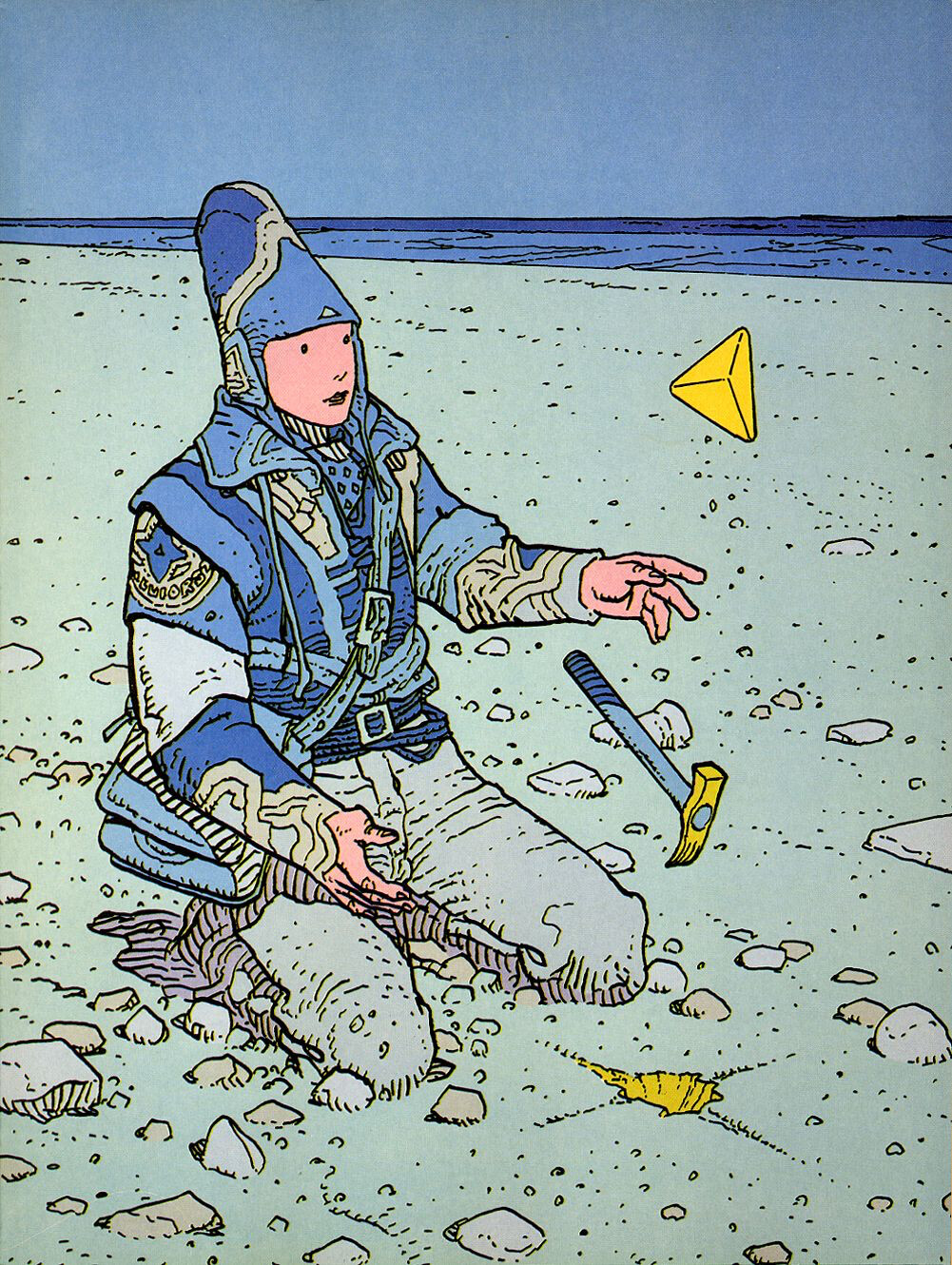 Reference piece by Jean Giraud from the Blue Pyramid