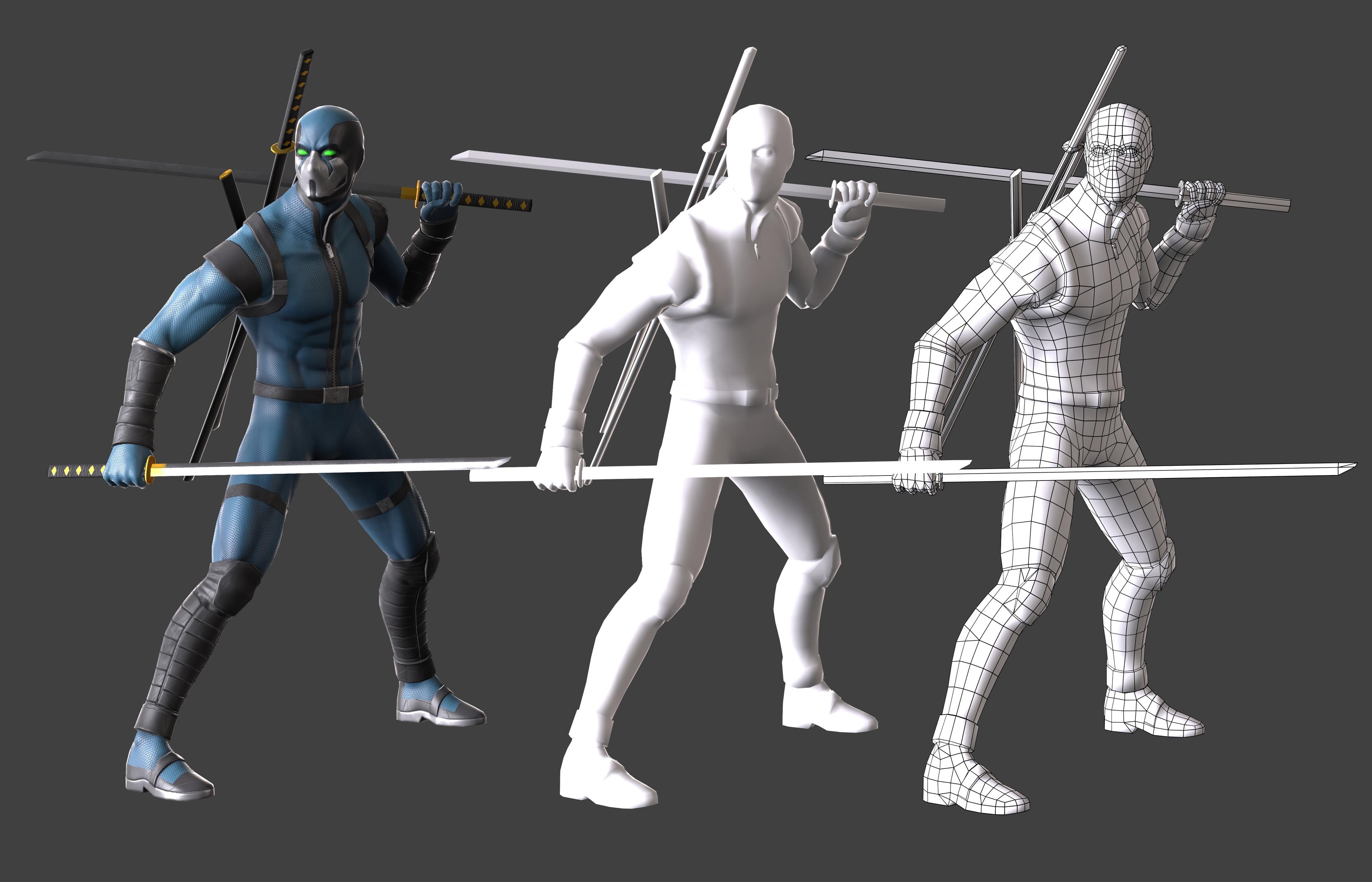 Male Low poly view