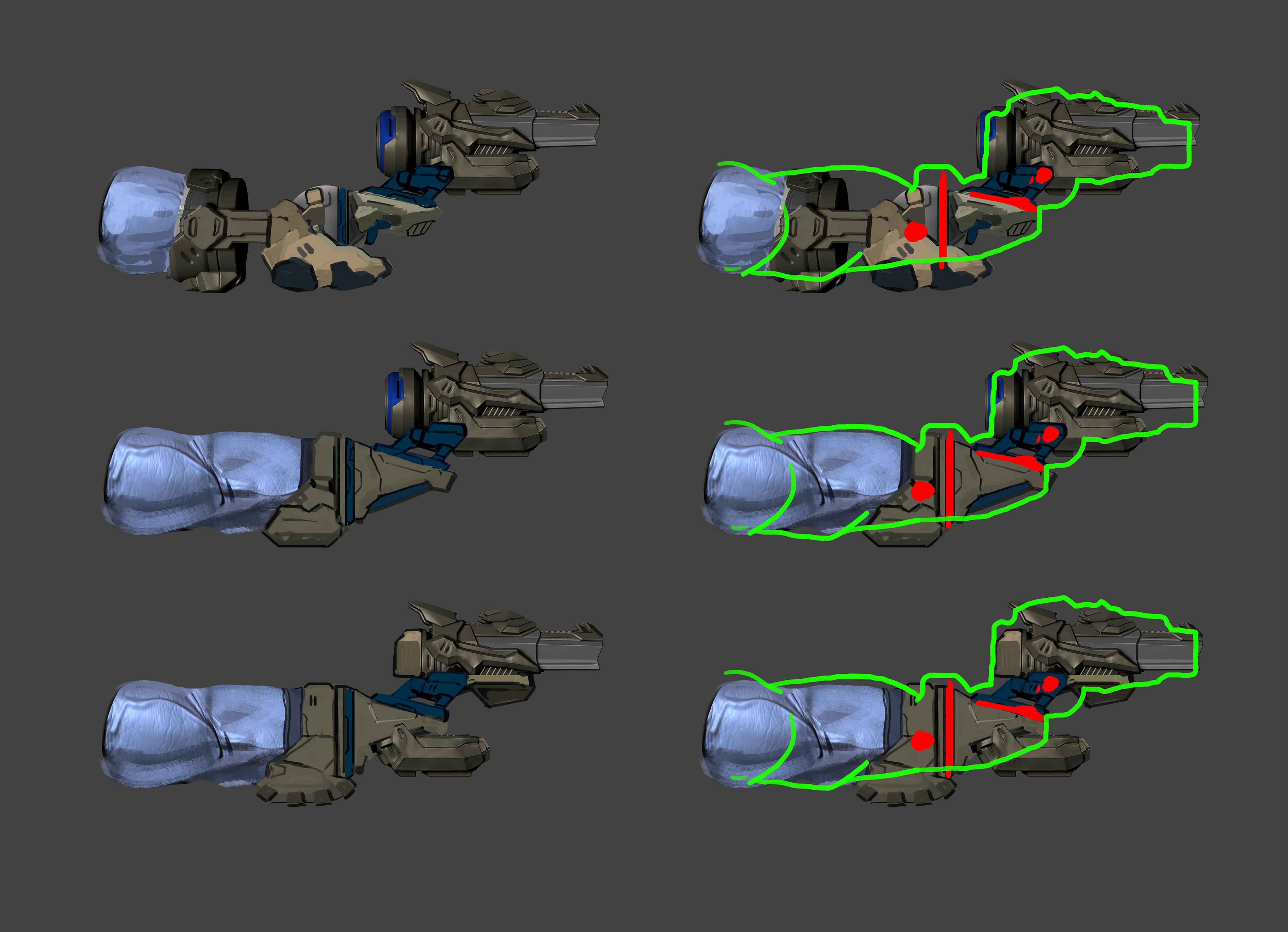 Concept by Kekai Kotaki  Gun concept, joint rotation