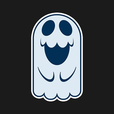 Philip smuland ghost sticker