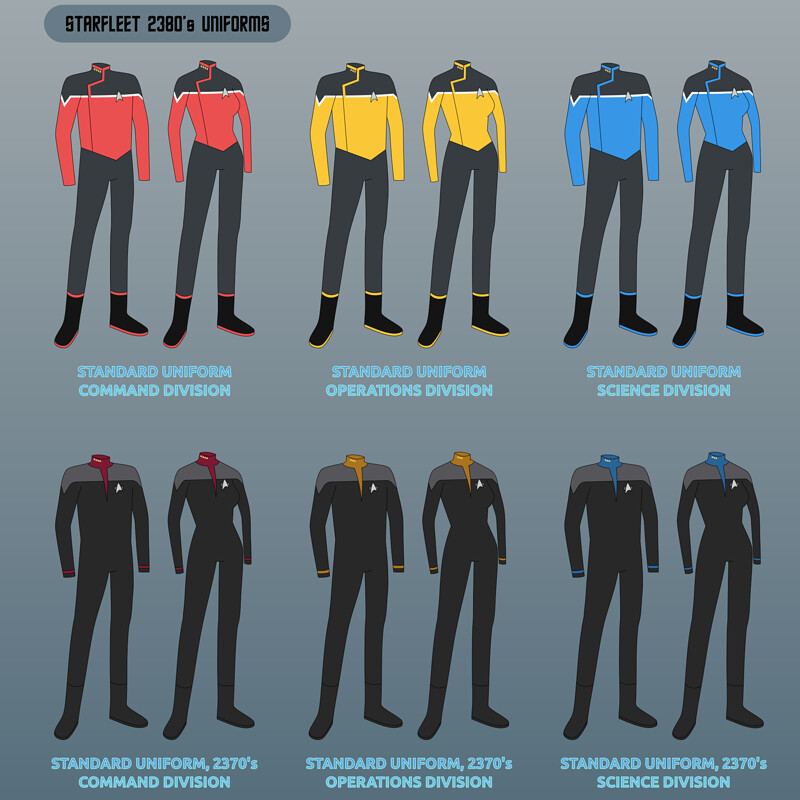 Star Trek Lower Decks - Starfleet Uniforms