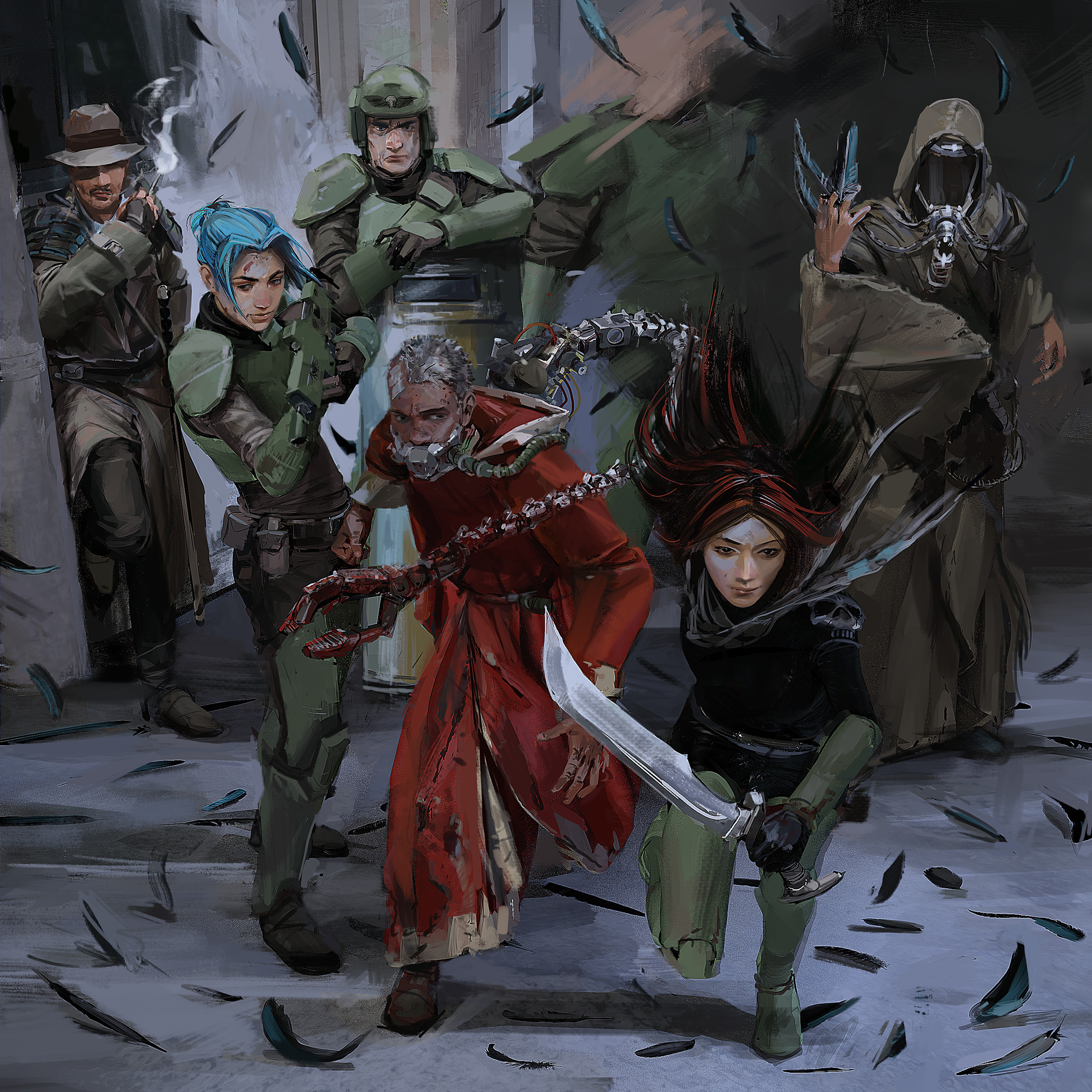 flashback to the very start of the campaign when everyone was a lot less powerful and/or heretical