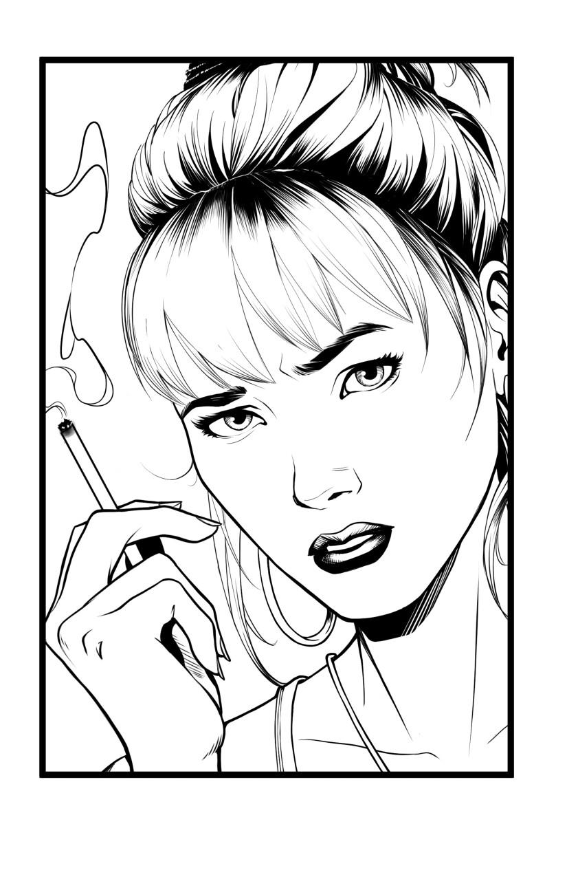 Original black and white line work.