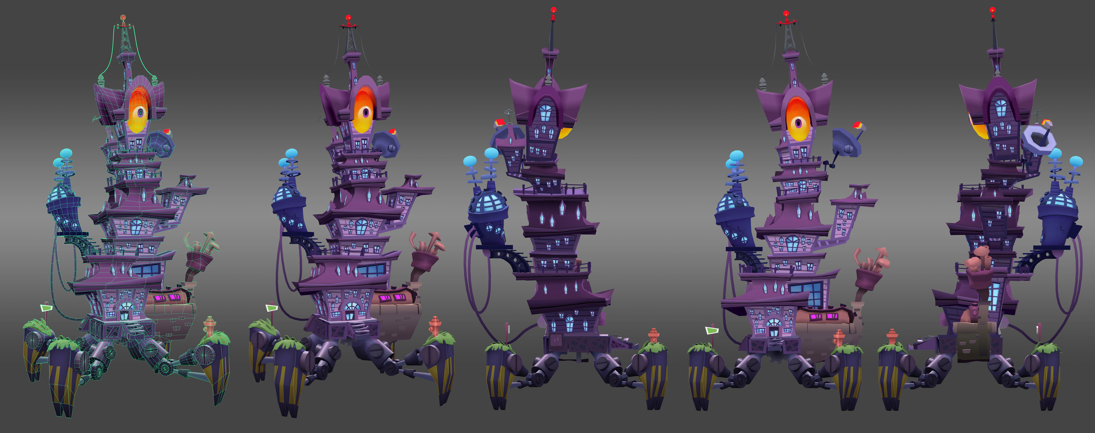 Zomboss Tower: Game asset - regular colors