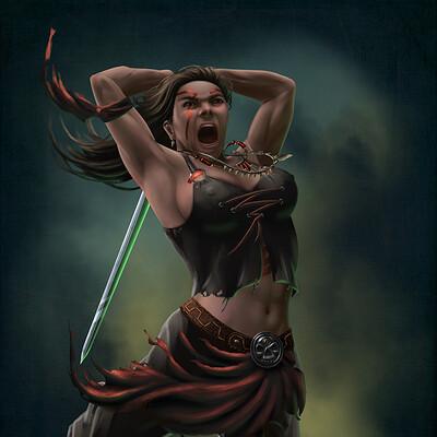 Elysian night human barbarian sfw web use