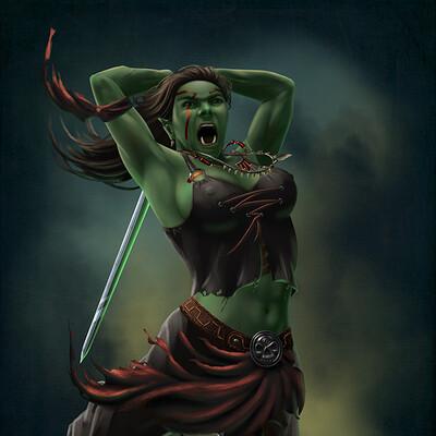 Elysian night orc barbarian sfw web use