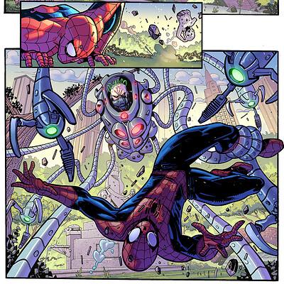 Maksim strelkov spiderman 1 inks by andrearsandbabs