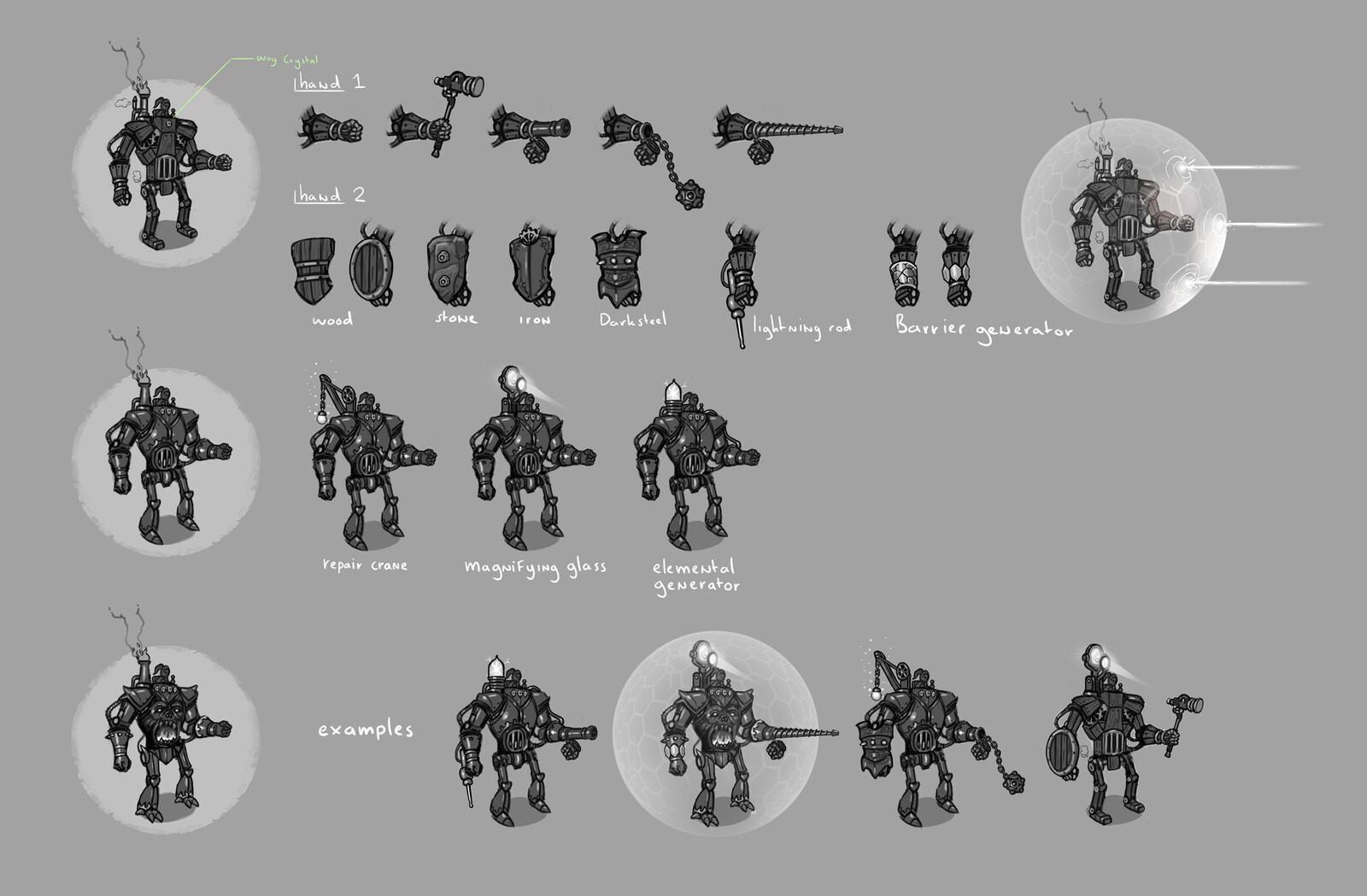 Mecha upgrade concepts