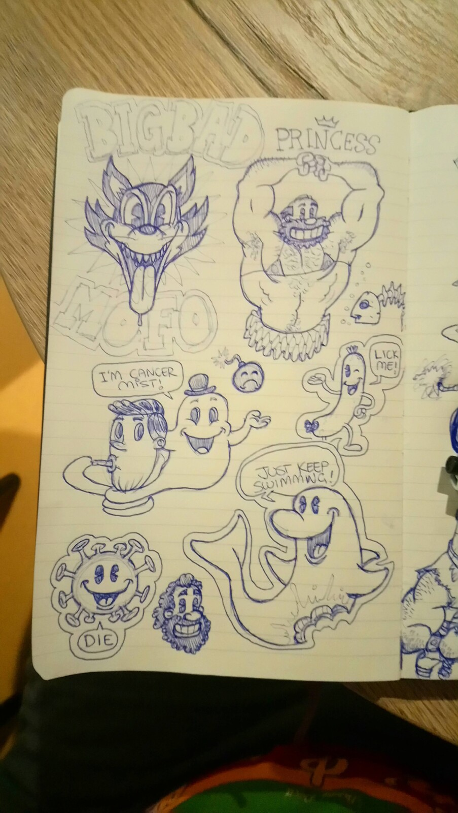 Initial sketch - doodles
