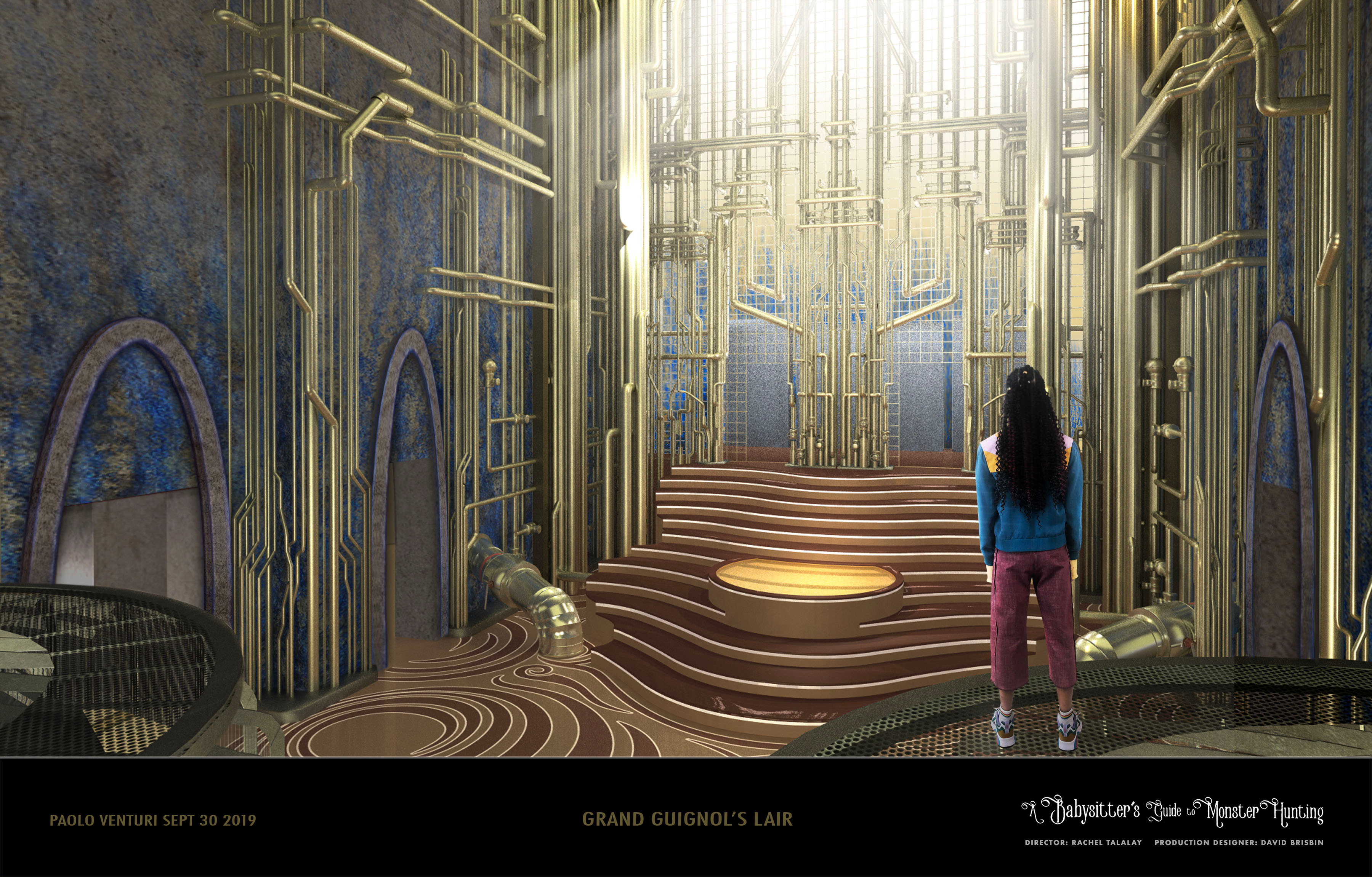 A Babysitter's Guide to Monster Hunting - Int Lair Set Design and Floor Treatment