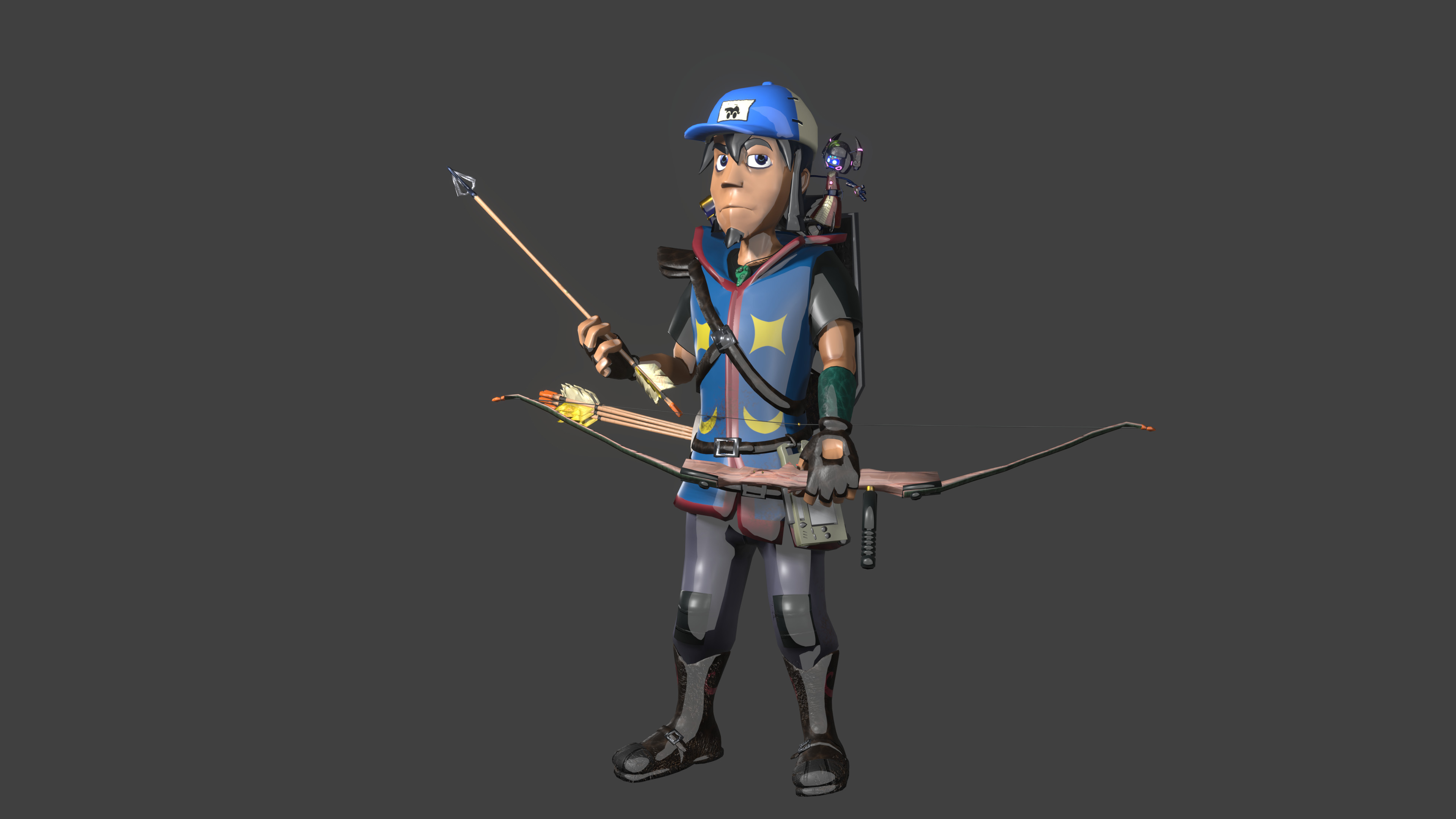 I've done archery IRL just to get ideas for this guy
