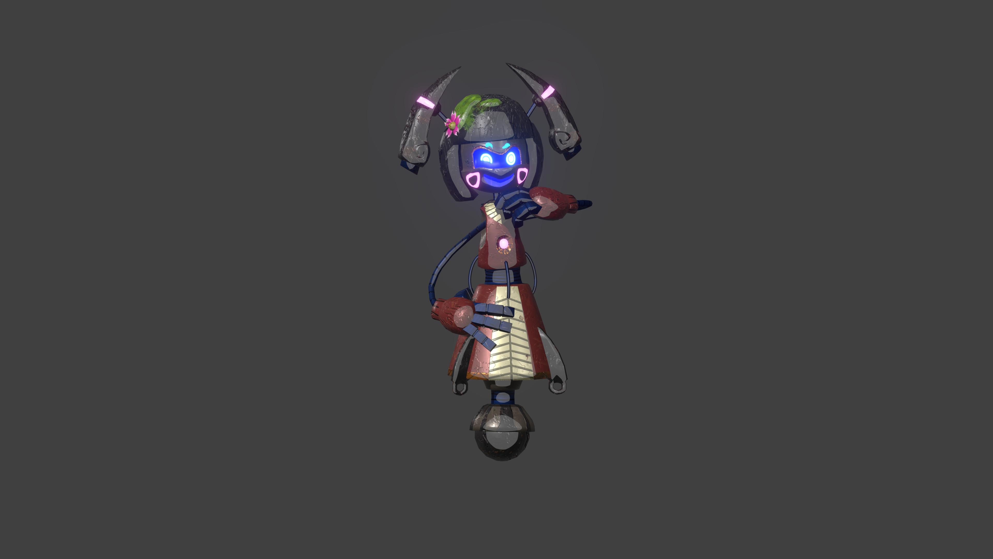 Dokkan, Edison's tiny kokeshi doll robot partner