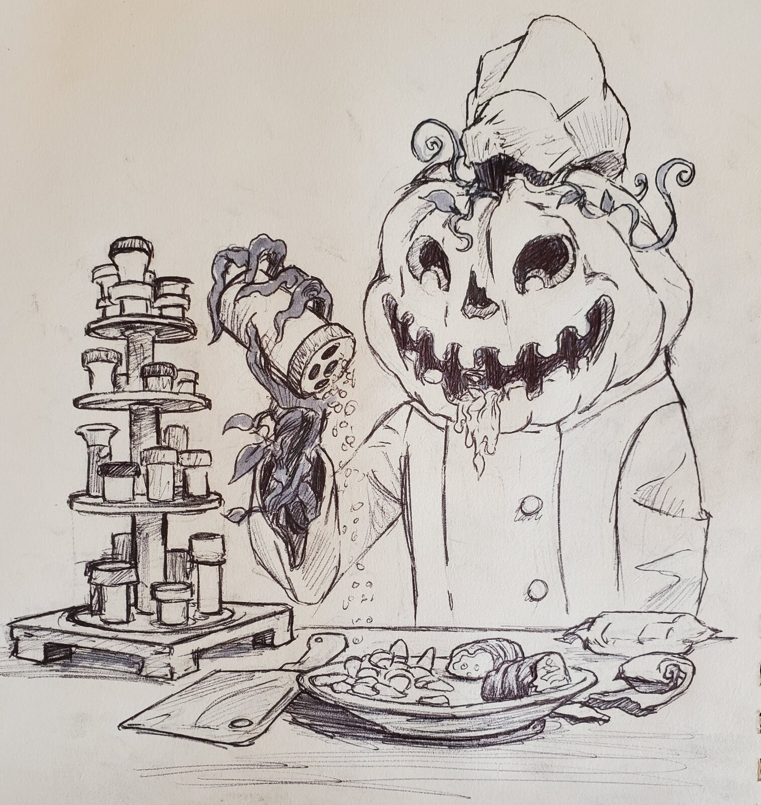 Inktober day 22: Chef