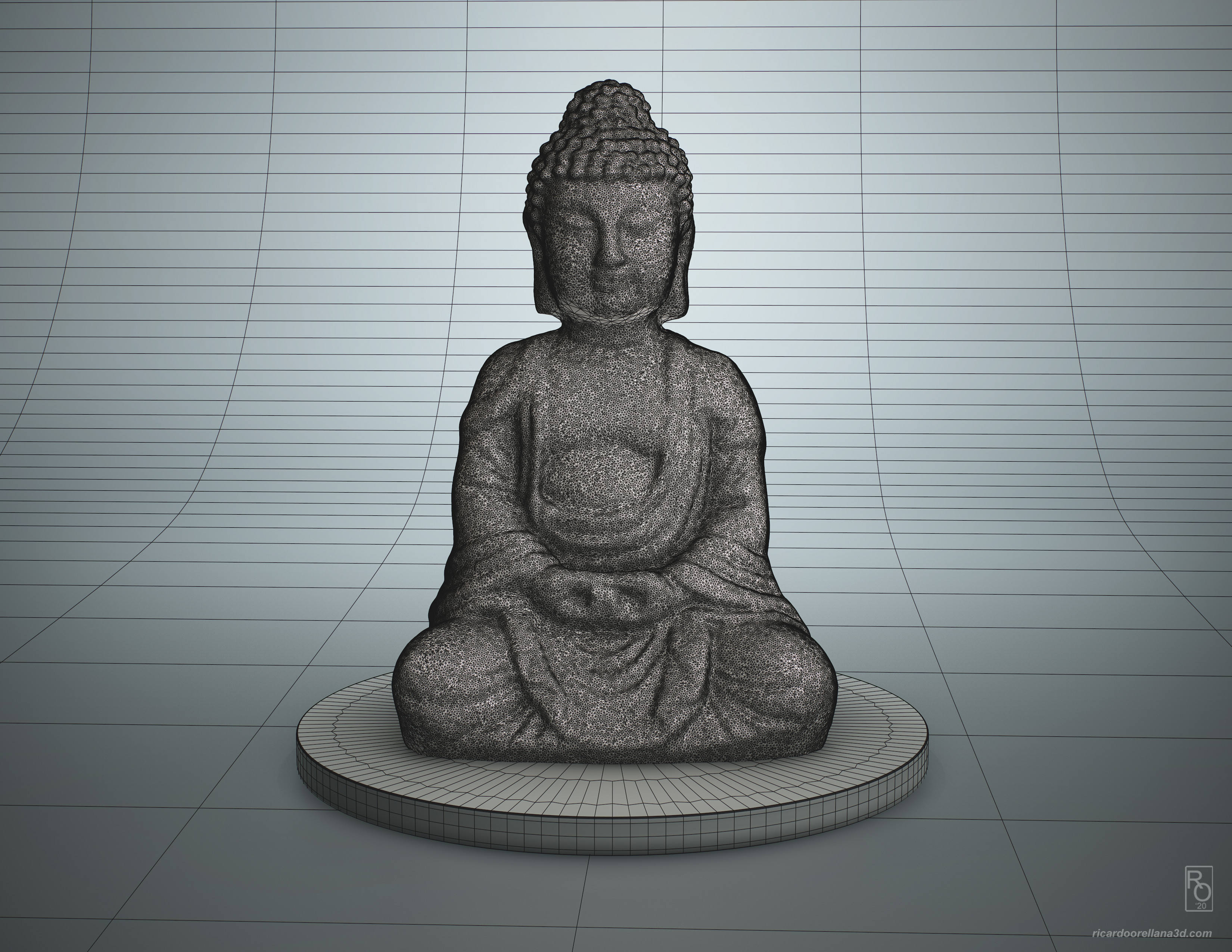 Original wireframe mesh result from the capture with base cleanup