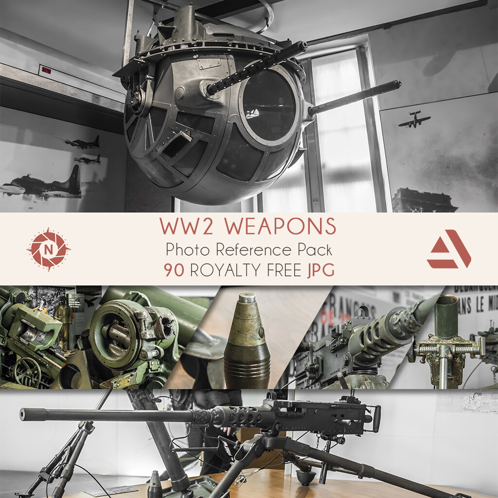 Photo Reference Pack: WW2 Weapons  https://www.artstation.com/a/165880