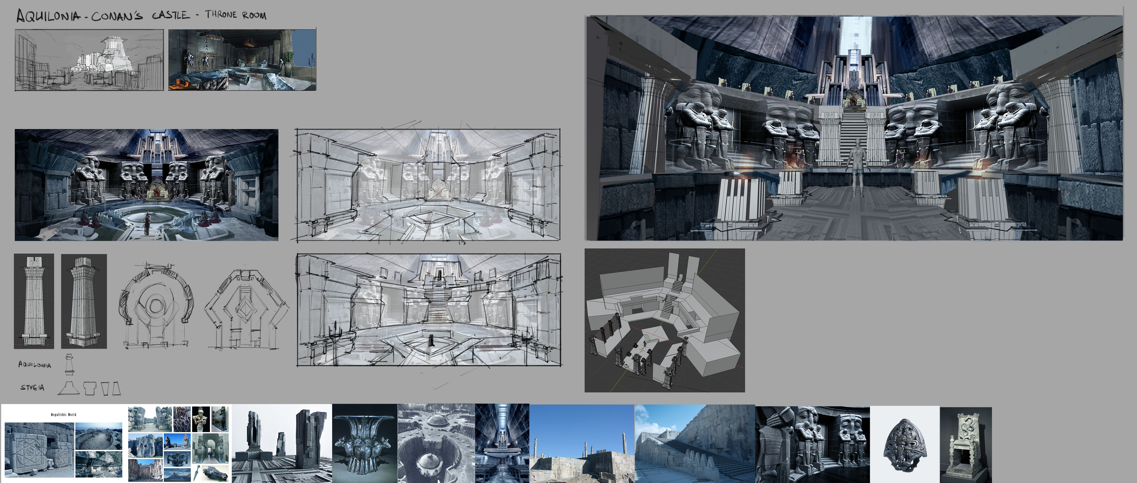 Initial Exploration for a throne room