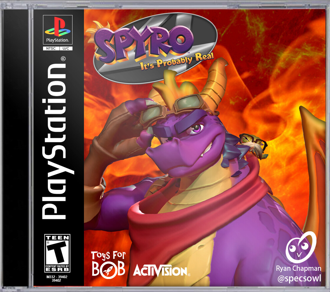 Fake cheesy jewel case mockup for how I'd imagine a Jak and Daxter-esque Spyro 4 sequel