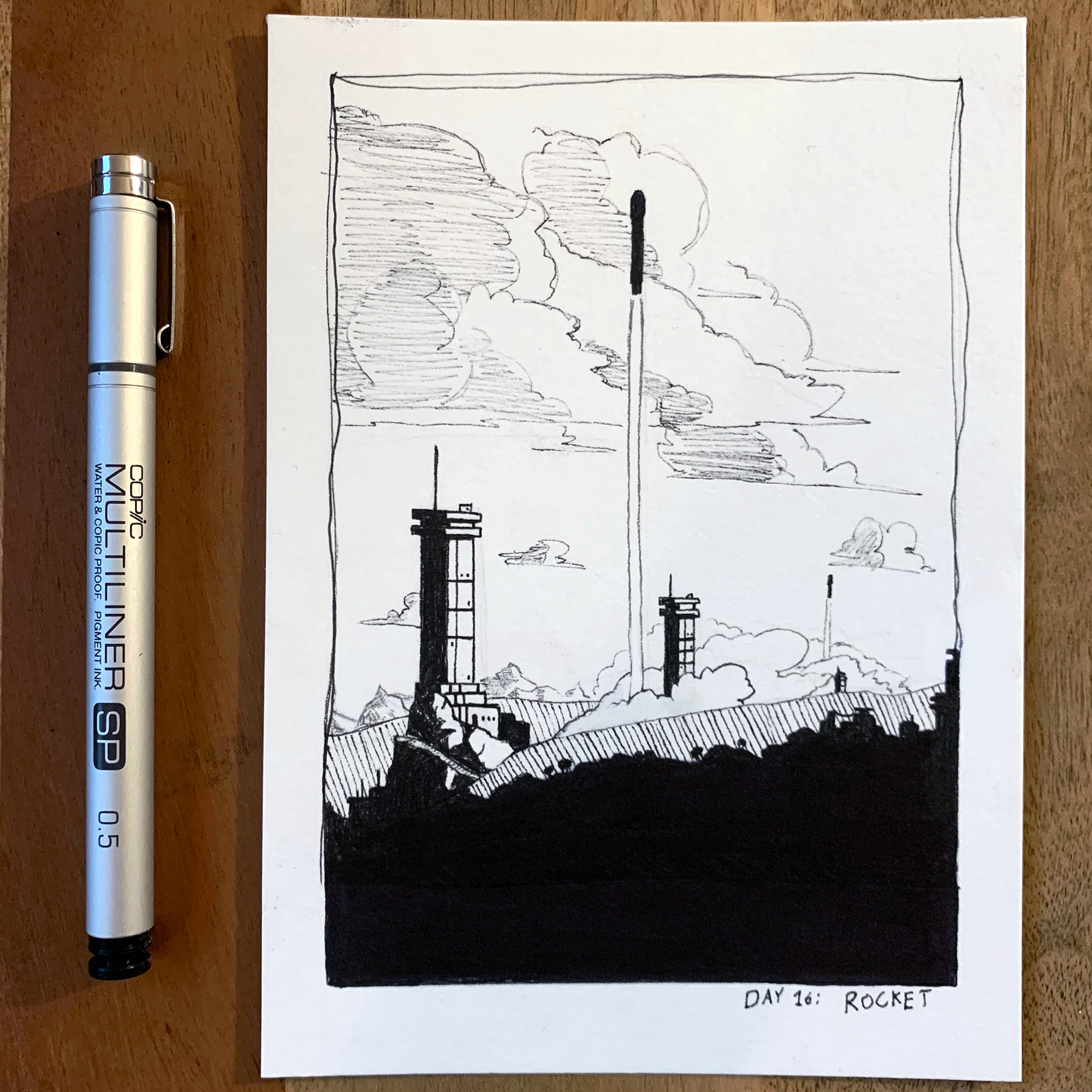 (Day 16: Rocket) Leaving the ground, we bathe in starlight.