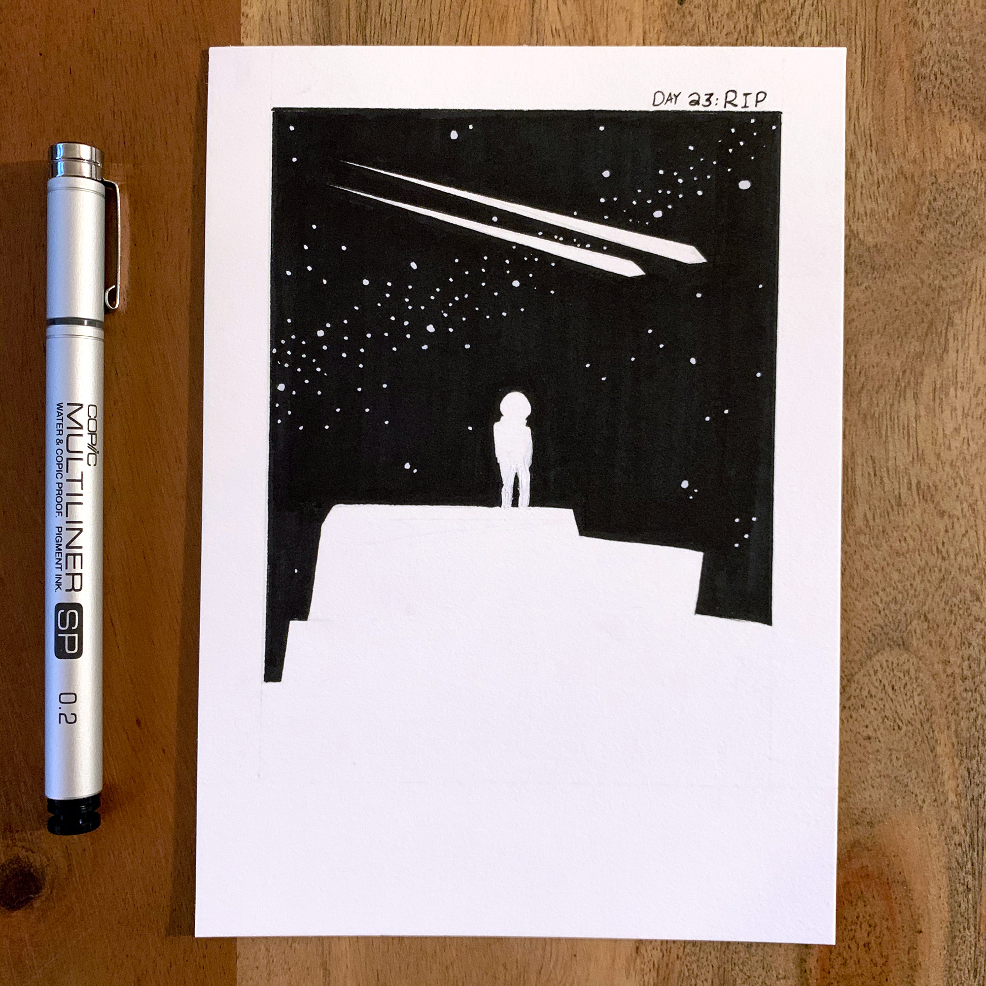 (Day 23: Rip) Every million cycles, shooting stars rip our sky.
