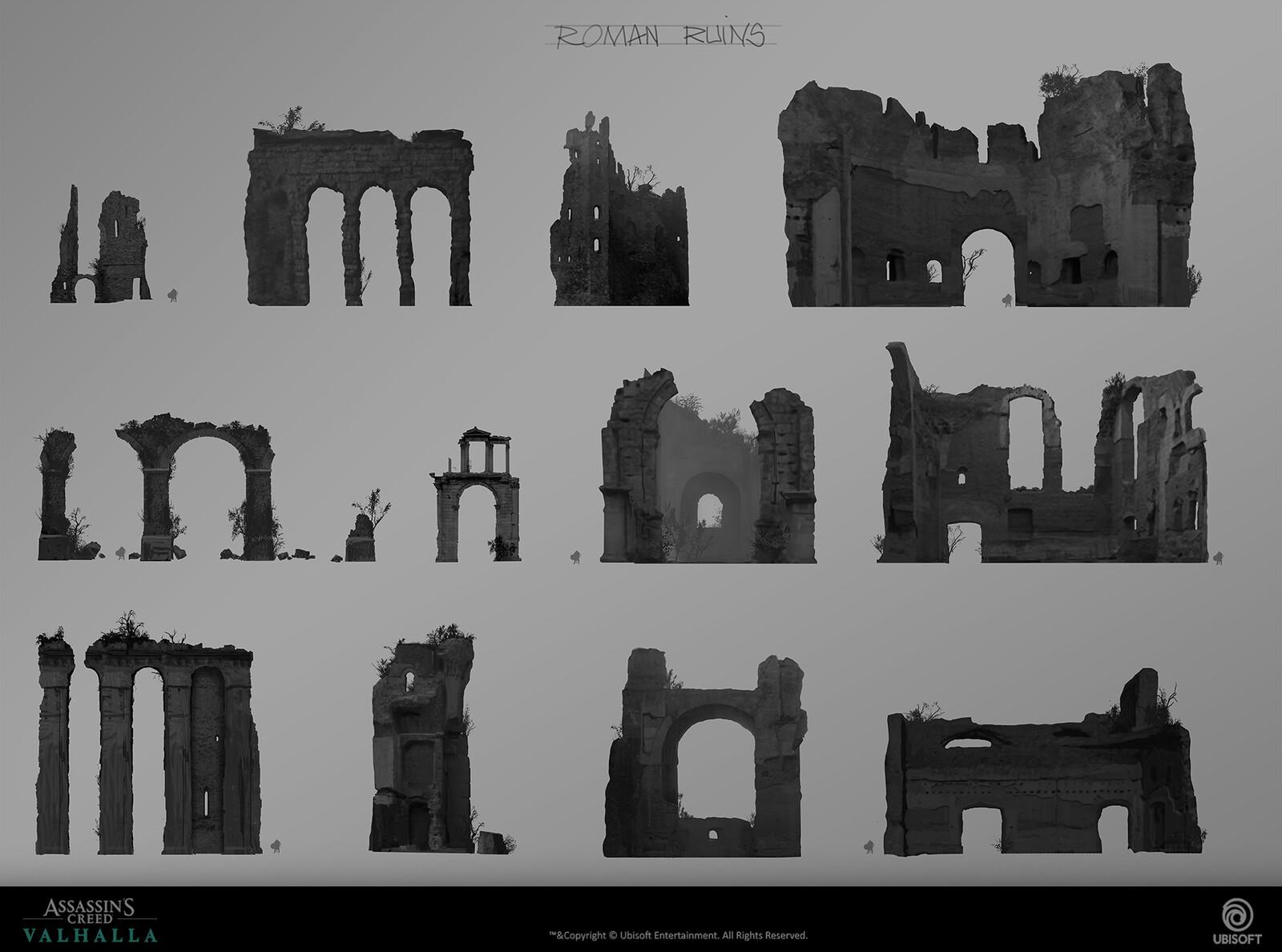 Ruins silhouettes