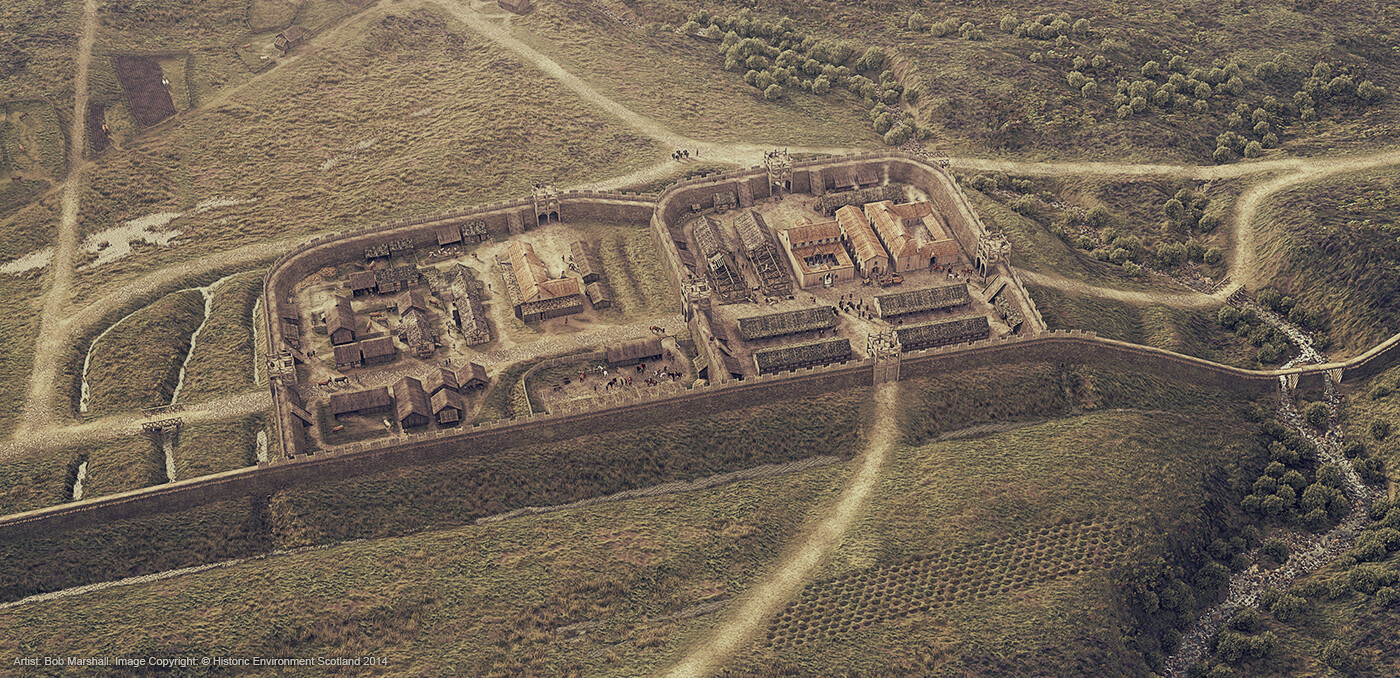 Digital Reconstruction of Rough Castle Roman Fort and the Antonine Wall