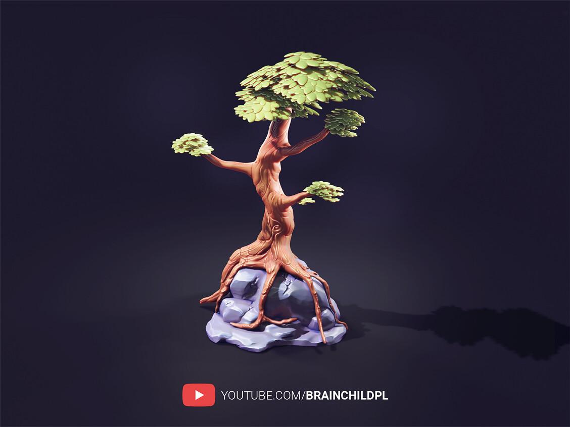 Full playlist (6 HD videos) PBR stylised tree in Blender 2.90 | Blender low poly game art | Blender 3d  https://www.youtube.com/watch?v=ySv0IufRnkM&list=PLob6hbUtmU2OldS1ios57bPXtJe5kDiD_&index=6