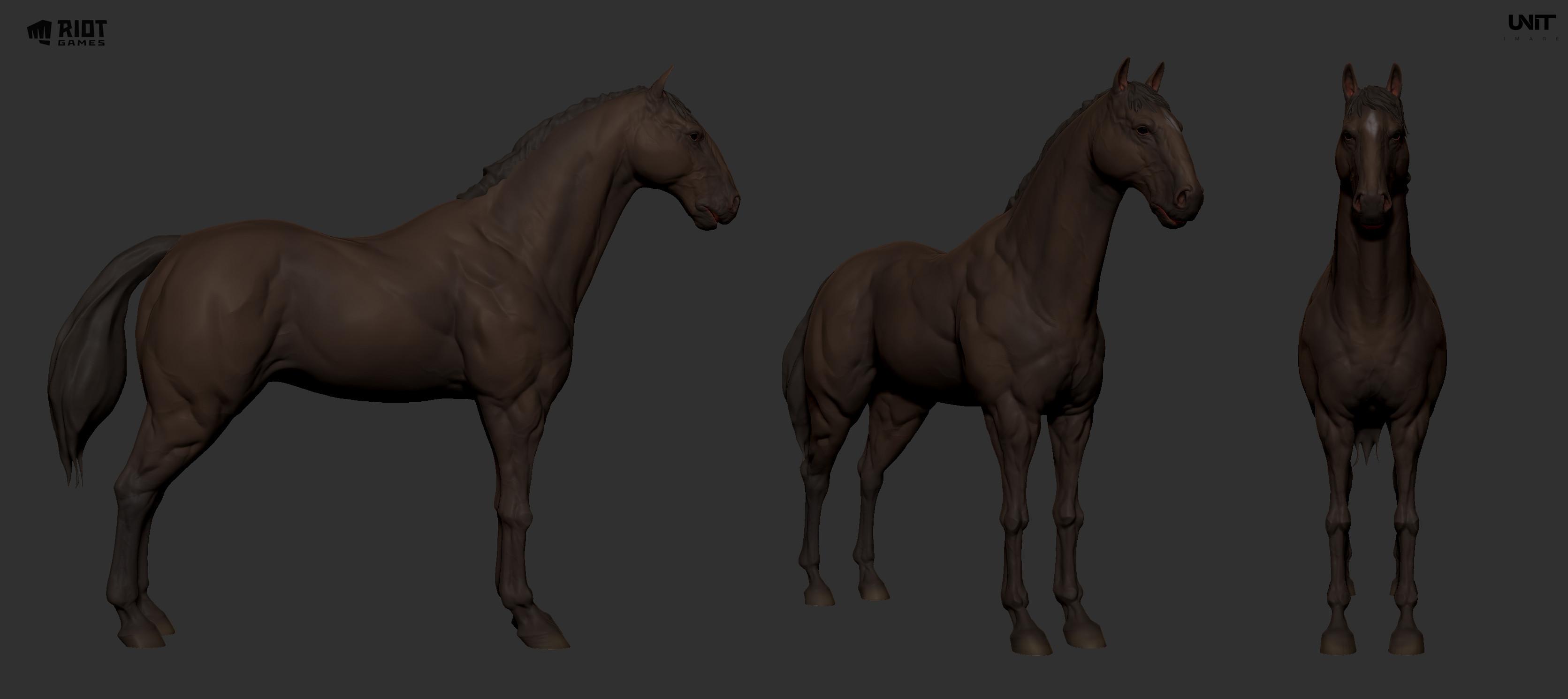 horse WIP sculpt modeling