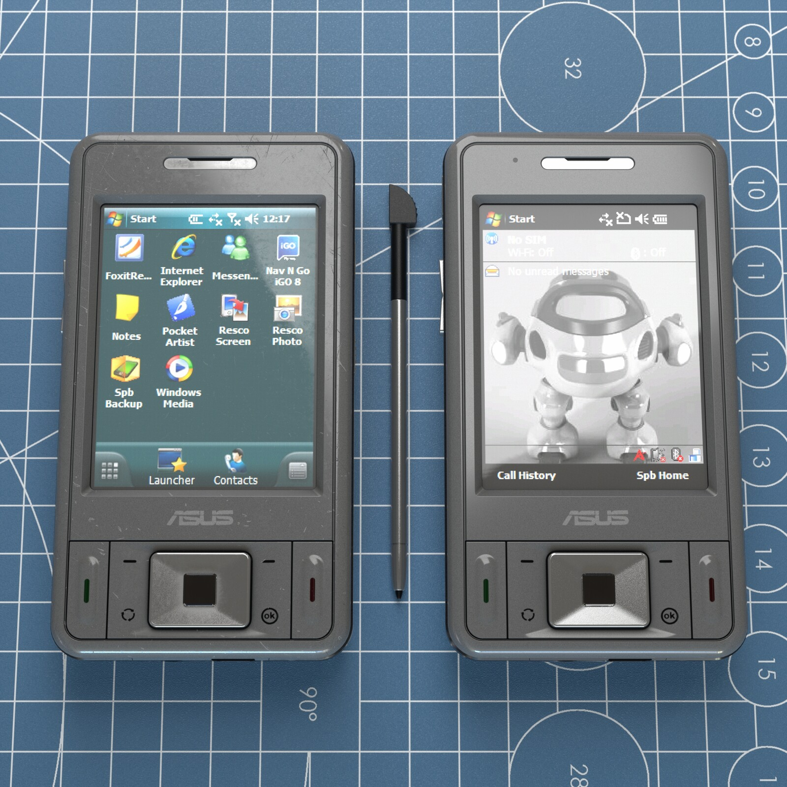 Smartphone CAD Modeling - Asus P535