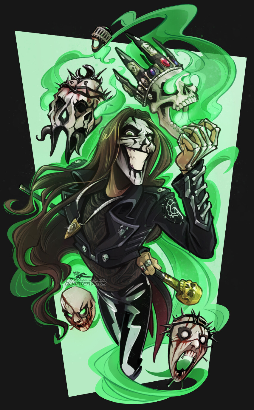 Bet you can't tell by now which costume is my favourite...  If you like symphonic metal, horror lyrics, and some of the best corpse paint I've ever seen, give Carach Angren a try, especially this time of year.