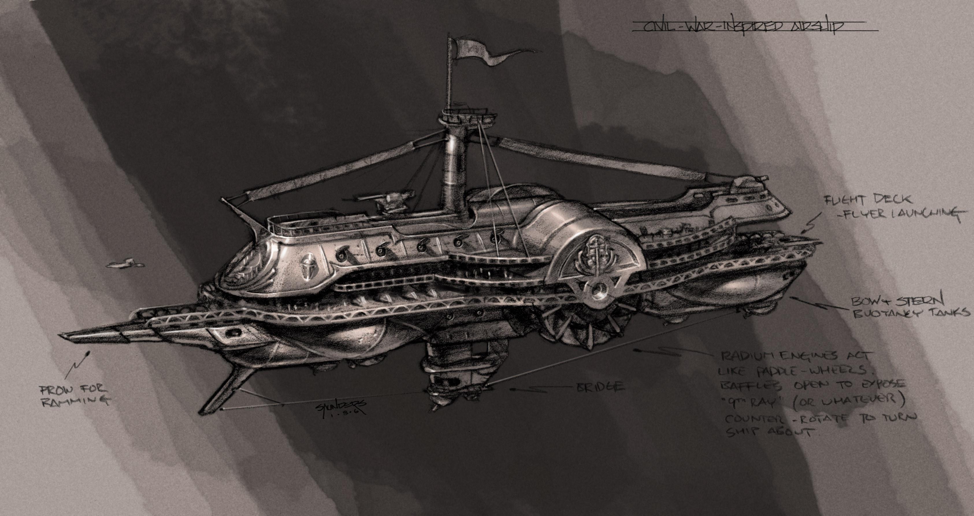 Helium airship.