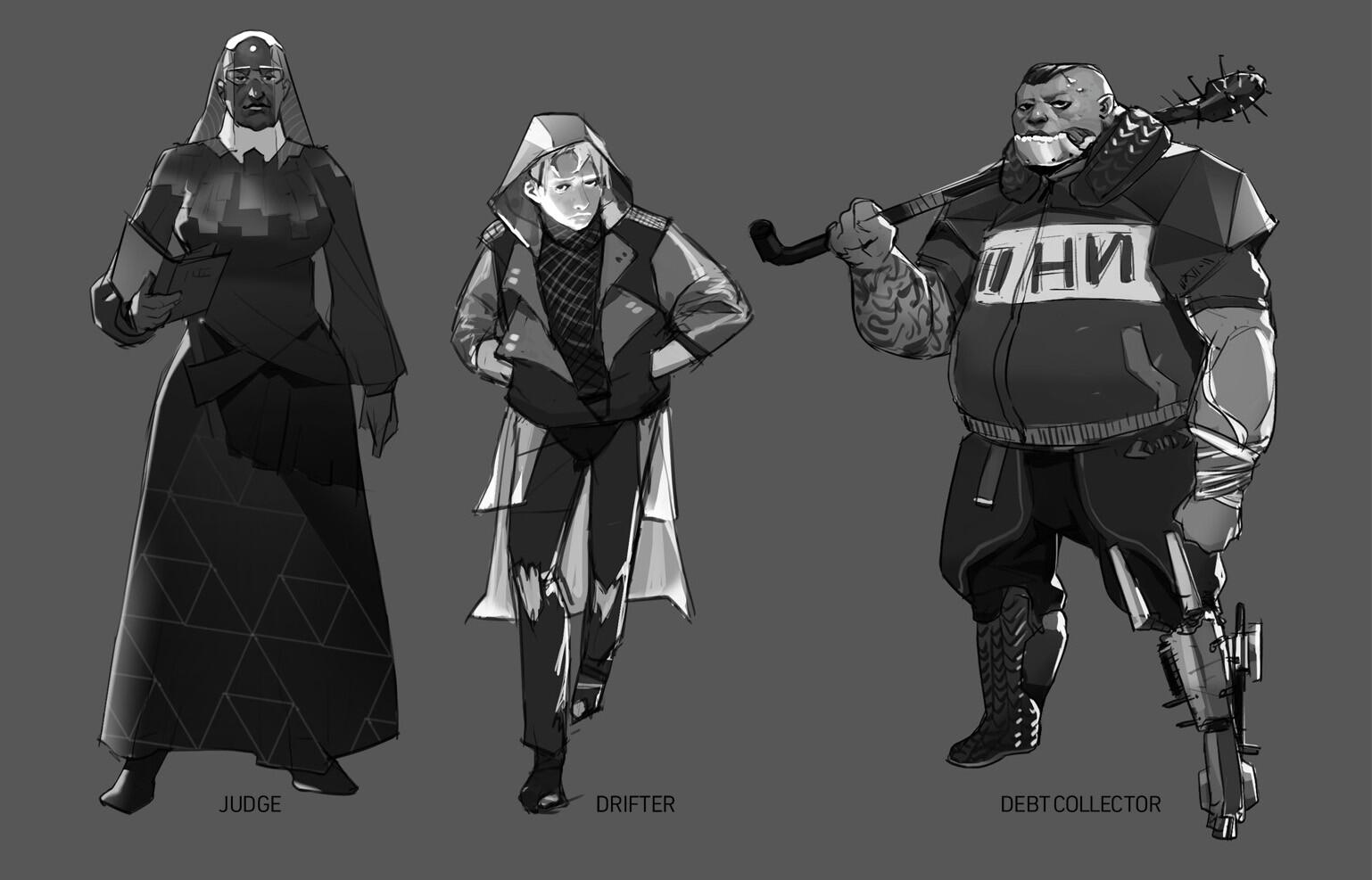 SF/Cyberpunk character exploration