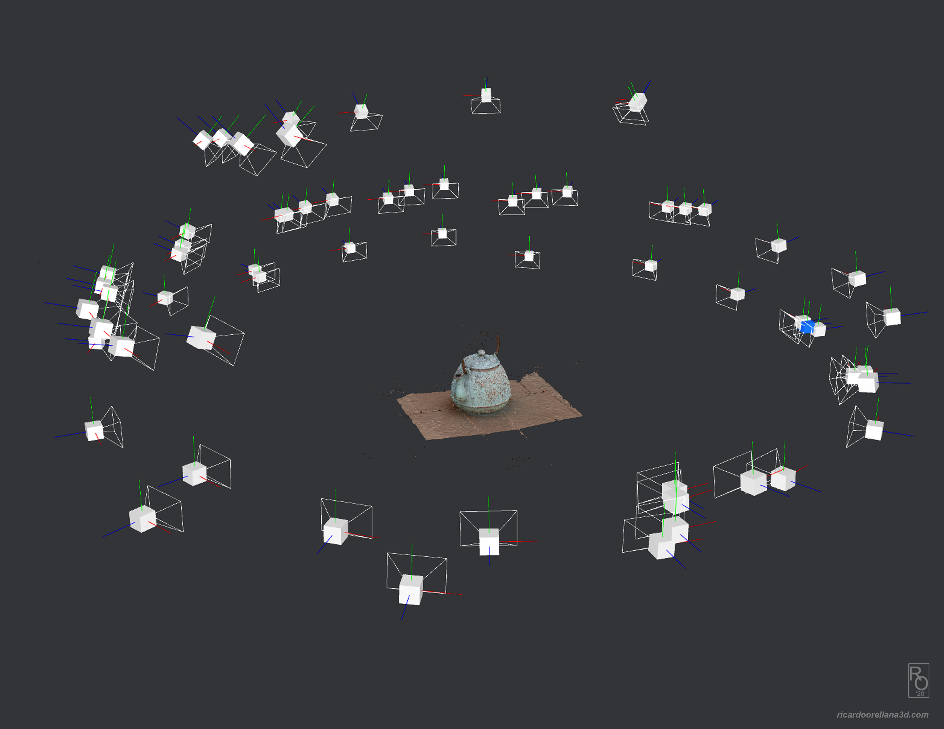 Screenshot from Meshroom showing the number of cameras used