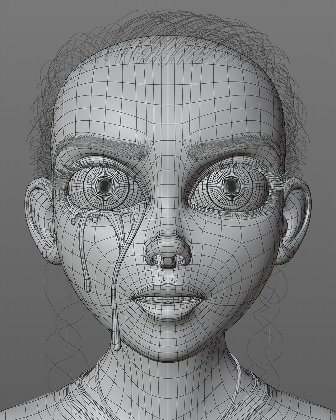 Wireframe and Hair Particles